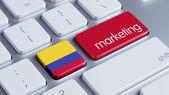 Concetto di Marketing di Colombia — Foto Stock