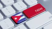 Nowa koncepcja Kuba — Zdjęcie stockowe