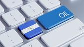 Concepto de petróleo de Nicaragua — Foto de Stock
