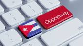 Cuba Opportunity Concep — Stock Photo