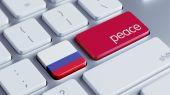 Russia Peace Concep — Stock Photo