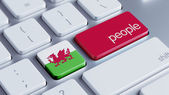 Wales People Concept — Stock Photo