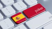 Koncept Poker Španělsko — Stock fotografie
