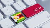 Zimbabwe Poker Concept — Stock Photo