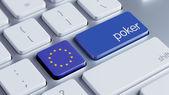 European Union Poker Concept — Stock Photo