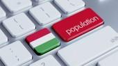 Hungary Population Concep — Stock Photo