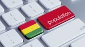 Bolivia Population Concep — Stock Photo
