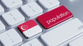 Singapore Population Concep — Stock Photo