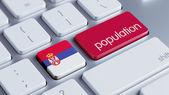 Serbia Population Concep — Zdjęcie stockowe