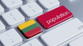 Lithuania Population Concep — Stock Photo