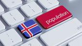 Islande Population Concep — Photo