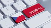 Czech Republic Problems Concept — Stock Photo