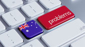 Australia Problems Concept — Stock Photo