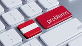 Austria Problems Concept — Foto de Stock