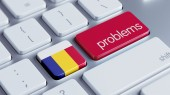 Romania Problems Concept — Stock Photo