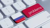 Russia Problems Concept — Stock Photo