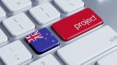 New Zealand Project Concep — Stock Photo