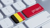 Belgium Project Concep — Stock Photo