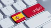 Spain Project Concep — Stock Photo