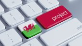 Wales Project Concep — Stock Photo