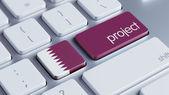 Qatar Project Concep — Stock Photo