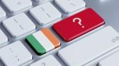 Ireland Question Mark Concept — Stock Photo