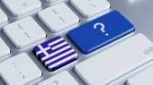 Greece Question Mark Concept — Stock Photo