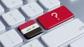 Iraq Question Mark Concept — Stock Photo
