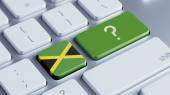 Jamaica Question Mark Concept — Stock Photo