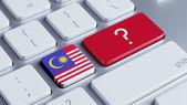 Malaysia Question Mark Concept — Stock Photo
