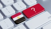 Egypt Question Mark Concept — Stock Photo