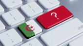 Algeria Question Mark Concept — Stock Photo