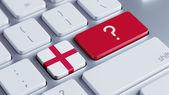 England Question Mark Concept — Stock Photo