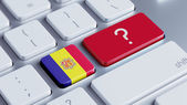 Andorra Question Mark Concept — Stock Photo