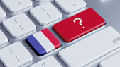 France Question Mark Concept — Stock Photo