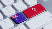 Australia Question Mark Concept — Stock Photo
