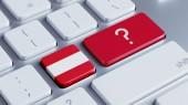 Austria Question Mark Concept — Stock Photo