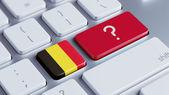Belgium Question Mark Concept — Stock Photo