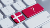 Denmark Question Mark Concept — Stock Photo