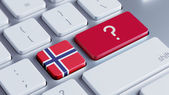 Norway Question Mark Concept — Stock Photo