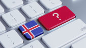 Iceland Question Mark Concept — Stock Photo