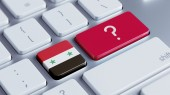 Syria Question Mark Concept — Stock Photo