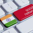 India Social Network Concep — Stock Photo #55249713