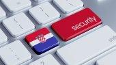 Croatia Security Concept — Stock Photo