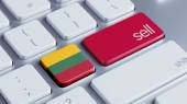 Lithuania Sell Concept — Stockfoto