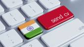 India  Send CV Concept — Foto Stock