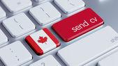 Canada  Send CV Concept — Stock Photo