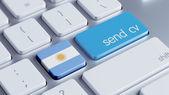 Argentina  Send CV Concept — Foto Stock