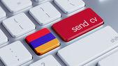 Armenia  Send CV Concept — Foto Stock