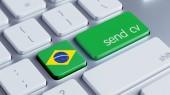 Brazil  Send CV Concept — Foto Stock